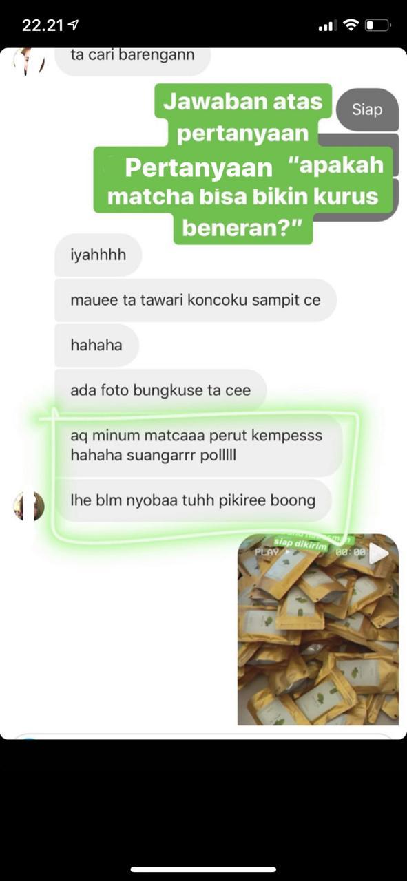 Testimoni Oyrus Matcha Tea
